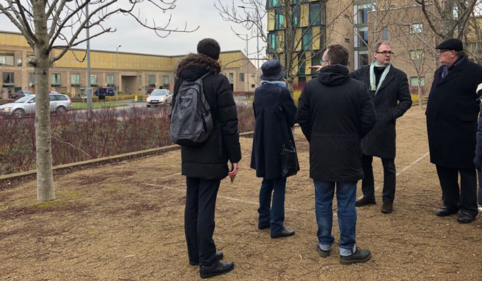 – The Suffolk Design team braves the cold for the first of three study tours