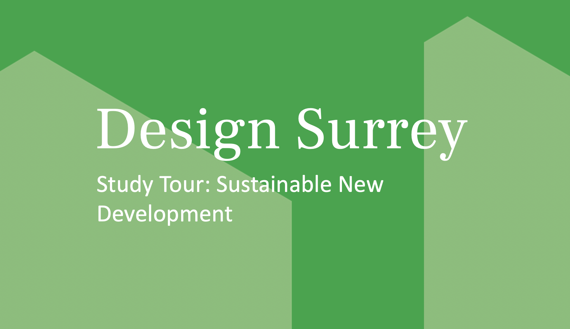 Design South East — Study Tour: Sustainable new development – 23 September 2021
