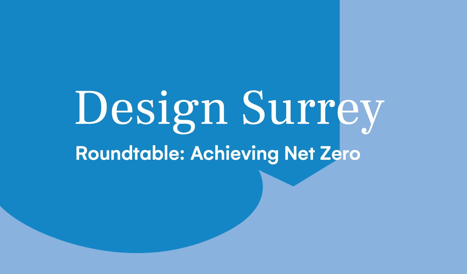 Design South East — Roundtable: Achieving Net-Zero
