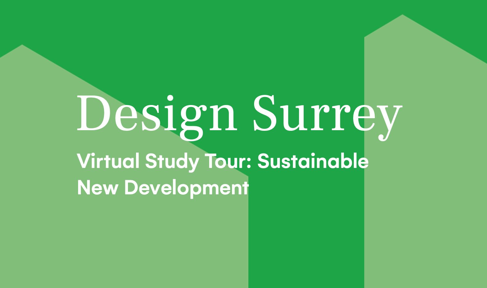 Design South East — Virtual Study Tour: Sustainable new development – TBC